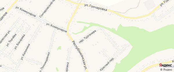 Переулок Тургенева на карте Алексеевки с номерами домов