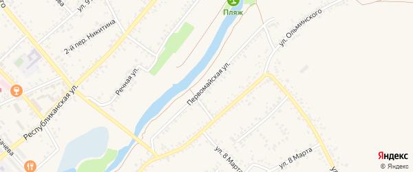 Первомайская улица на карте Алексеевки с номерами домов
