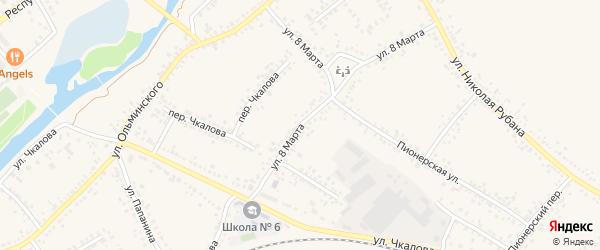 Улица 8 Марта на карте Алексеевки с номерами домов