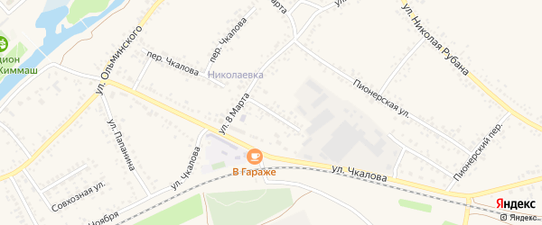 Переулок 8 Марта на карте Алексеевки с номерами домов