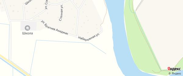 Набережная улица на карте аула Псейтука с номерами домов