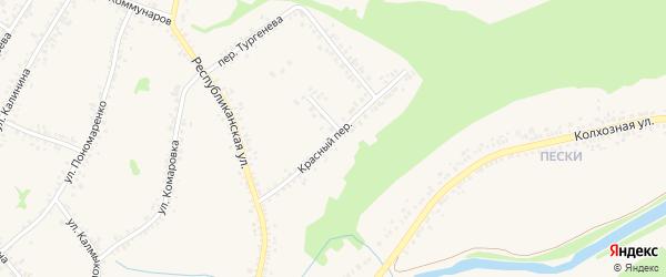 Красный переулок на карте Алексеевки с номерами домов