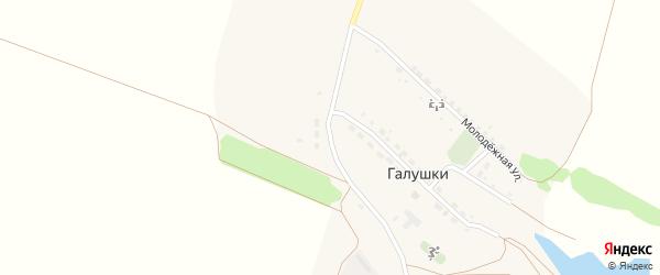 Полевая улица на карте села Галушек с номерами домов