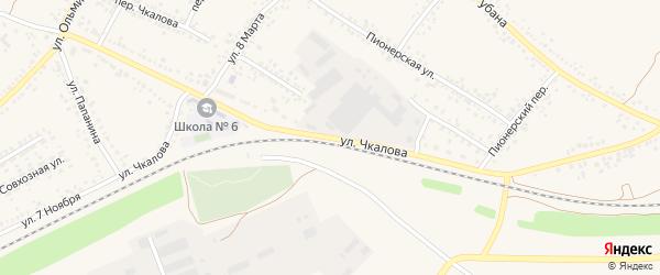 Улица Чкалова на карте Алексеевки с номерами домов