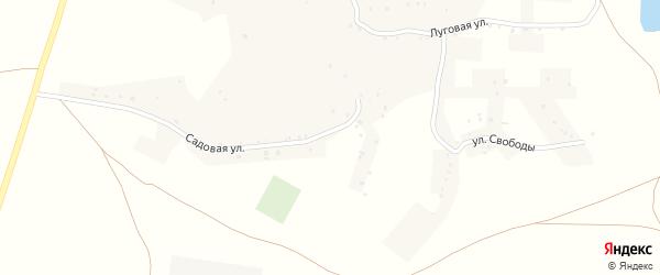 Садовая улица на карте села Кубраки с номерами домов