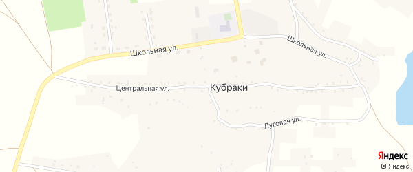 Центральная улица на карте села Кубраки с номерами домов
