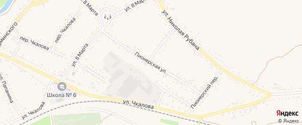 Пионерская улица на карте Алексеевки с номерами домов