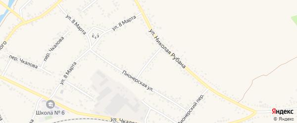 Переулок Н.Рубана на карте Алексеевки с номерами домов