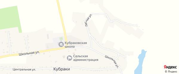 Лесная улица на карте села Кубраки с номерами домов
