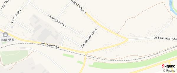 Пионерский переулок на карте Алексеевки с номерами домов
