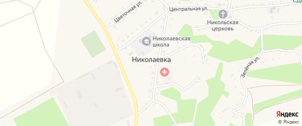 Переулок Мира на карте села Николаевки с номерами домов