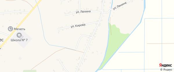 Совмена 4-й переулок на карте аула Панахес с номерами домов