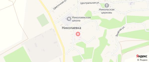 Солнечная улица на карте села Николаевки с номерами домов