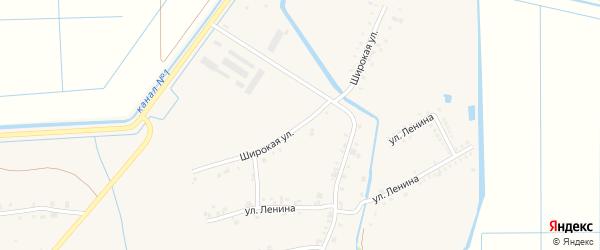 Широкая улица на карте аула Панахес с номерами домов