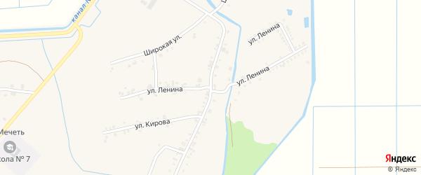 Улица Ленина на карте аула Панахес с номерами домов