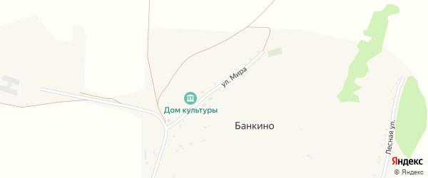 Улица Мира на карте села Банкино с номерами домов