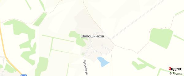 Карта хутора Шапошникова в Белгородской области с улицами и номерами домов