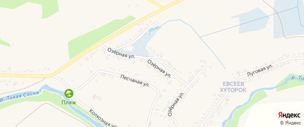 Озерная улица на карте Алексеевки с номерами домов