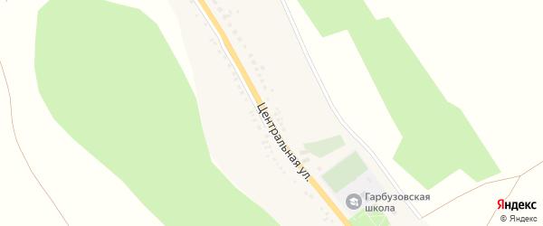 Центральная улица на карте села Гарбузово с номерами домов