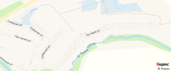 Луговая улица на карте Алексеевки с номерами домов