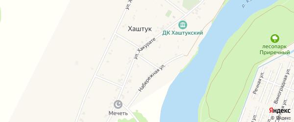 Хакурате 2-й переулок на карте аула Хаштука с номерами домов