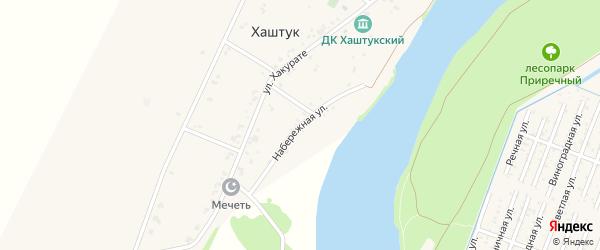 Набережная улица на карте аула Хаштука с номерами домов