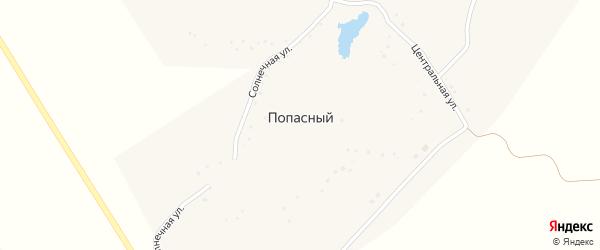 Солнечная улица на карте Попасного хутора с номерами домов