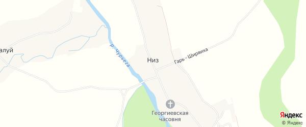 Карта деревни Низа (Ошевенского мо) в Архангельской области с улицами и номерами домов