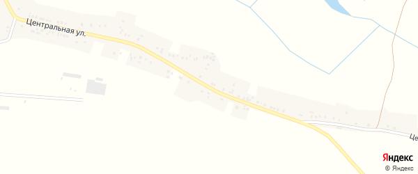 Центральная улица на карте села Горки с номерами домов