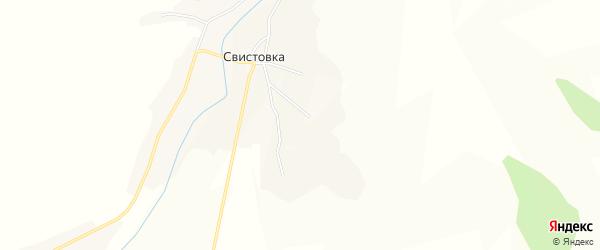 Карта села Свистовки в Белгородской области с улицами и номерами домов