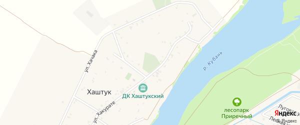 Дорога А/Д Подъезд к а. Хаштук на карте аула Хаштука с номерами домов