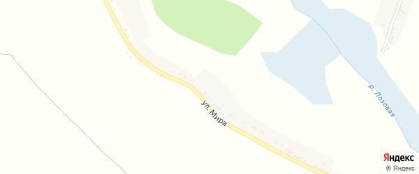 Улица Калиновка на карте села Лозной с номерами домов
