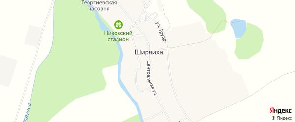 Карта деревни Ширяихи в Архангельской области с улицами и номерами домов