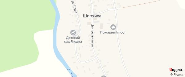Центральная улица на карте деревни Ширяихи с номерами домов