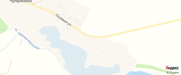 Полевая улица на карте села Чупринино с номерами домов