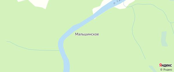 Карта деревни Мальшинского в Архангельской области с улицами и номерами домов