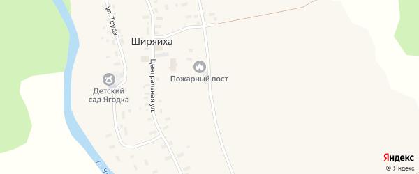 Молодежная улица на карте деревни Ширяихи с номерами домов
