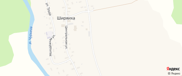 Молодежная улица на карте деревни Абакумово с номерами домов