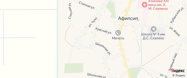 Ленина 2-й переулок на карте аула Афипсипа с номерами домов