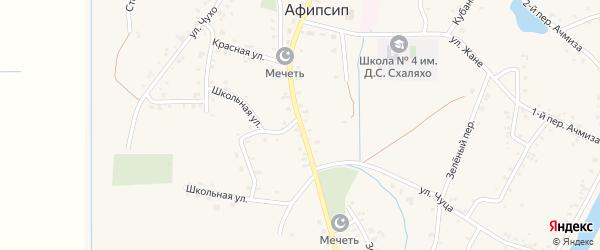 Улица Х.М.Совмена на карте аула Афипсипа с номерами домов