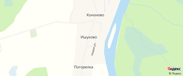 Карта деревни Кононово в Архангельской области с улицами и номерами домов
