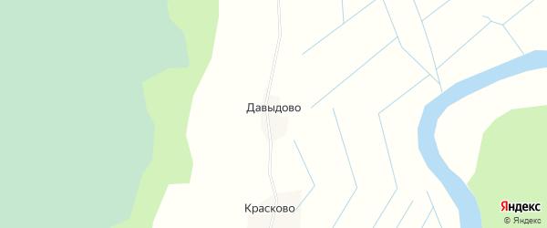Карта деревни Давыдово в Архангельской области с улицами и номерами домов
