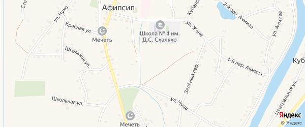 Улица Х.Каде на карте аула Афипсипа с номерами домов