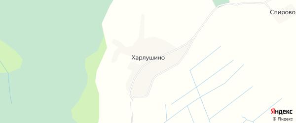 Карта деревни Харлушино в Архангельской области с улицами и номерами домов