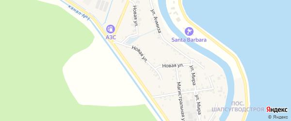 Новая улица на карте аула Афипсипа с номерами домов