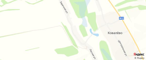 Карта села Белозорово в Белгородской области с улицами и номерами домов