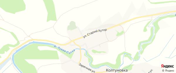 Карта села Колтуновки в Белгородской области с улицами и номерами домов