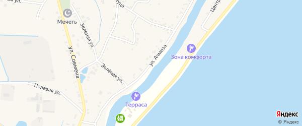 Улица А.Х.Ачмиза на карте аула Афипсипа с номерами домов