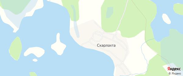 Карта деревни Скарлахты в Архангельской области с улицами и номерами домов