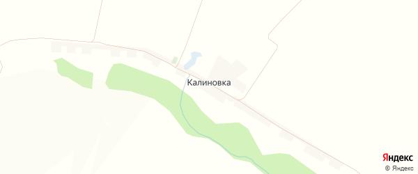 Карта хутора Калиновки в Белгородской области с улицами и номерами домов